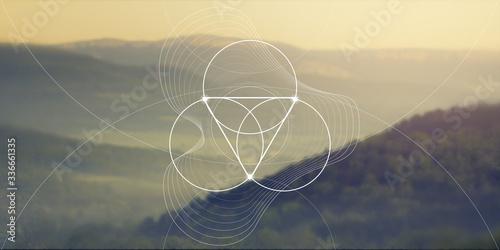 Fotografiet Sacred geometry web banner