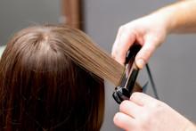 Hairdresser Straightens Hair O...