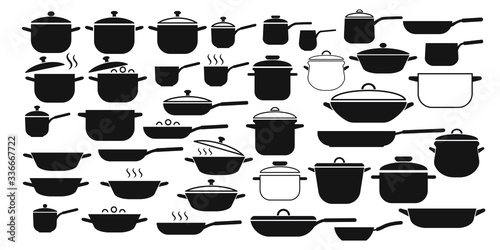 Vector set of kitchen utensils icons Fotobehang