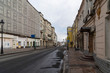 Moscow, Russia, April 5, 2020 - Moscow center Big Nikitskaya street. Moscow isolated due to coronavirus.