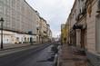 Moscow, Russia, April 5, 2020 - Moscow center Big Nikitskaya street. Moscow isolated due to coronavirus.