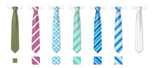 Striped Silk Neckties Template...