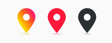 Location Icons, Flat And Gradi...