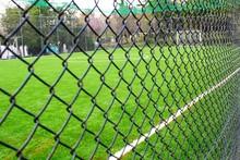 Athens, Greece, April 7 2020 - Empty 5 X 5 Soccer Field Due To Coronavirus Quarantine Measures.