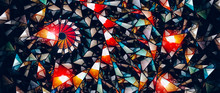 Colorful Stained-glass Widescreen Abstract Background