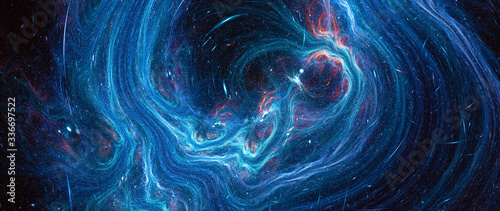 Blue glowing deep space stream Fototapet