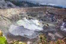 Poas Volcano Crater In Costa R...