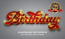 Red Gold Luxury 3d Text Effect