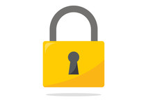 Modern Padlock Vector Icon Isolated