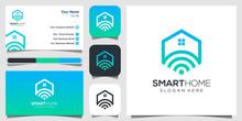 Smart Home Tech Logo Vector. Logo Design, Icon And Business Card