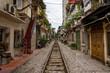 住宅街に走る線路