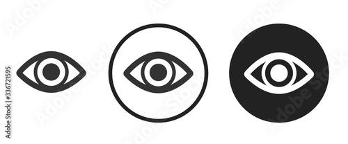 eye icon . web icon set .vector illustration Canvas