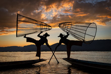Inle Lake Intha Fishermen At S...