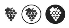 Grape Icon . Web Icon Set .vec...
