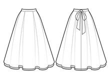 Smart Skirt Vector Template Is...