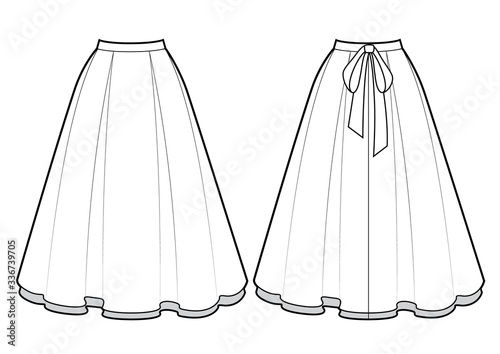 Fotografie, Obraz Smart skirt vector template isolated on a white background