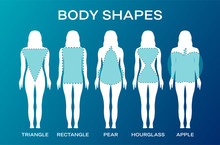 Blue Woman Body Shape Backgrou...