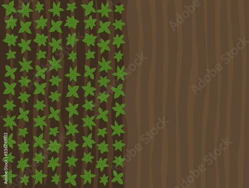 Obraz na plátně Arable field landscape top view