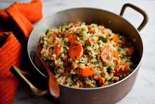 Fried Rice With Carrots And Pa...