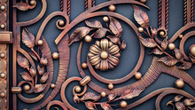 Wrought-iron Gates, Ornamental...