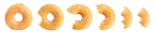 Set Of Delicious Donuts On White Background