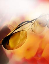 Close Up Of Aviator Sunglasses