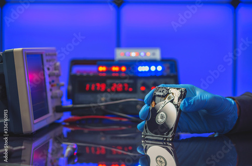 Fotografie, Obraz Bad HDD hard drive in data recovery service