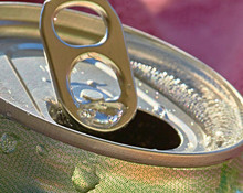 Close Up Of Drink Can