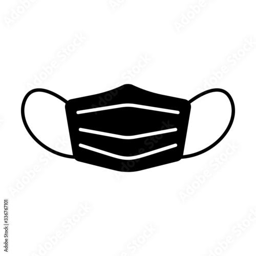 Fototapeta Face mask icon. Protective surgical or medical mask. Vector Illustration obraz
