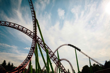 Roller Coaster Silhouette At S...