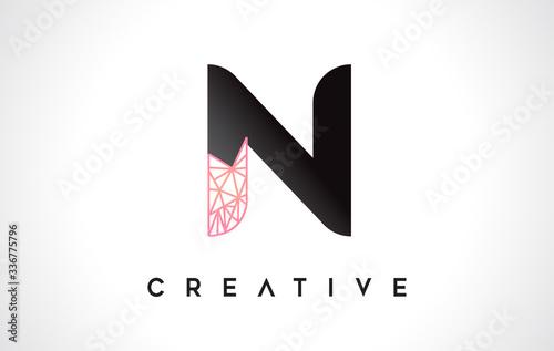 Tablou Canvas Letter N Beauty Logo