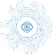 Blue Line Hypnosis Icon Isolat...