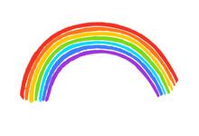 Child Drawing Of Rainbow Arc