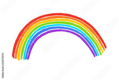 Fotografia Child drawing of rainbow arc