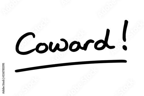 Coward! Canvas Print