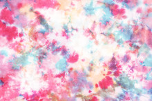 Tie Dye Pattern Hand Dyed On C...