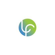 Initial Letter Lf Or Fl Logo D...