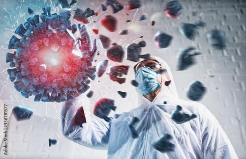 Obraz na plátně Medical science laboratory found a way to kill and destroy coronavirus
