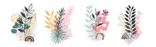 Set Abstract Floral Background...