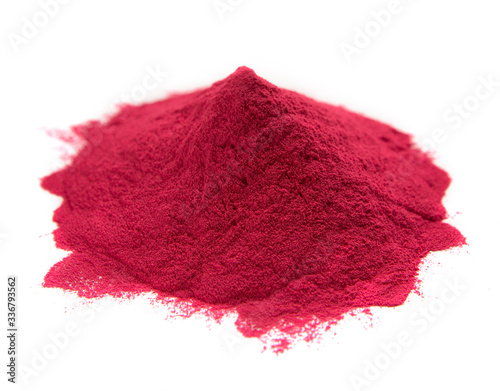 Red heap paint for India color festival Fototapet