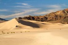 Desert Sand Dunes In Death Valley
