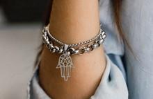 Close-up Of Woman Wearing Bracelet