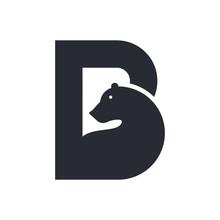 Simply Letter B For Bear Logo Design.
