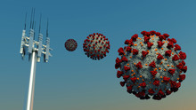 5g Antenna Coronavirus Covid-1...