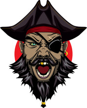 Angry Pirate With Evil Yeys Ba...