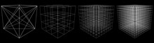 Set Of Abstract 3D Cubes Of Mu...