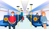 public transport please leave this seat empty for your health social distance vector