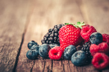 Fresh Summer Berries Mix With ...