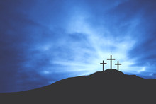 Three Christian Easter Crosses...