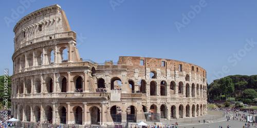 Fényképezés The Colosseum also known as the Flavian Amphitheatre - Rome, Italy
